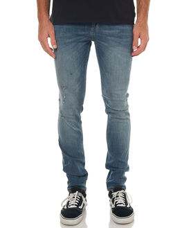 RENEW BLUE MENS CLOTHING CHEAP MONDAY JEANS - 0490185RNBLU