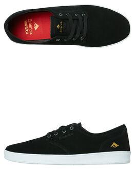 BLACK WHITE MENS FOOTWEAR EMERICA SKATE SHOES - 6102000089976
