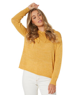 BRIGHT GOLD WOMENS CLOTHING ALL ABOUT EVE KNITS + CARDIGANS - 6433045PEAC