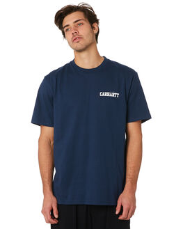 BLUE WHITE MENS CLOTHING CARHARTT TEES - I02480601