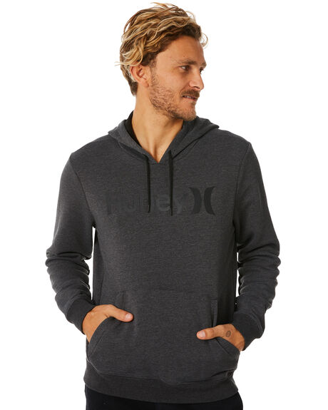 ad0f604a Hurley Surf Check One And Only Mens Pop Fleece - Black Heather ...