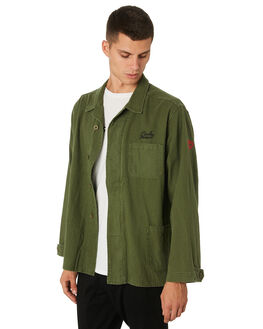 UTILITY GREEN MENS CLOTHING BANKS JACKETS - WJT0048UGR
