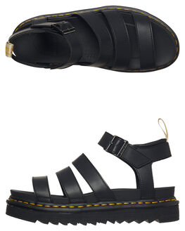 BLACK WOMENS FOOTWEAR DR. MARTENS FASHION SANDALS - SS23806001BLKW