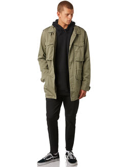 OLIVE MENS CLOTHING RVCA JACKETS - R381433OLIVE