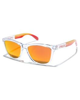POLISHED CLEAR RUBY MENS ACCESSORIES OAKLEY SUNGLASSES - OO9013-E155PCLR