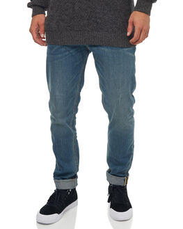MEDIUM BLUE MENS CLOTHING QUIKSILVER JEANS - EQYDP03345BYGW