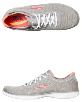 GREY WOMENS FOOTWEAR SKECHERS SNEAKERS - 14485GYPK
