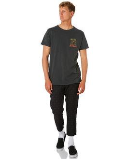 DIRTY BLACK MENS CLOTHING BANKS TEES - WTS0400DBL
