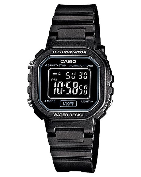 BLACK WOMENS ACCESSORIES CASIO WATCHES - LA20WH-1BBLK