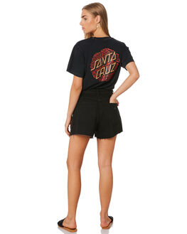 ACID BLACK WOMENS CLOTHING SANTA CRUZ TEES - SC-WTA0103ABLK