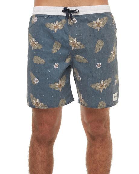 NAVY PRINT MENS CLOTHING RHYTHM BOARDSHORTS - JAN18M-JM06NAV
