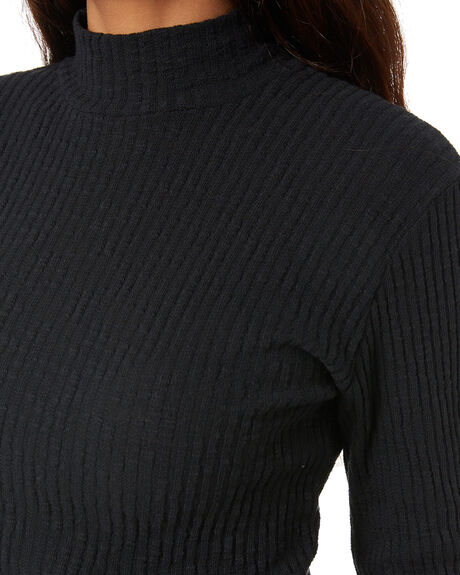BLACK WOMENS CLOTHING ALL ABOUT EVE KNITS + CARDIGANS - 6463213BLK