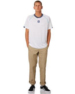 WHITE MENS CLOTHING ADIDAS TEES - CE1811WHT