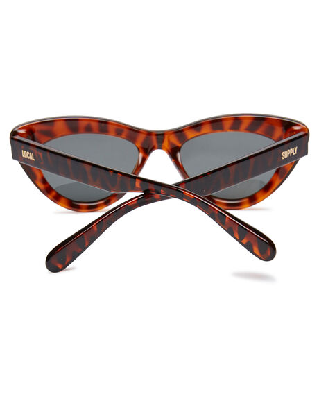 POLISHED TORT WOMENS ACCESSORIES LOCAL SUPPLY SUNGLASSES - AMSPTRT