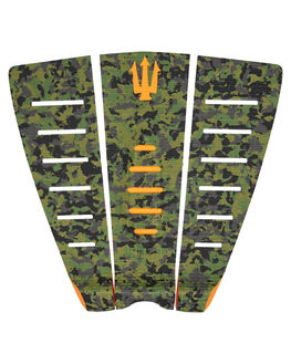 GREEN CAMO ORANGE BOARDSPORTS SURF FK SURF TAILPADS - 1206GRNCO