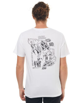 WHITE MENS CLOTHING AFENDS TEES - 01-01-322WHT