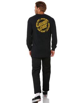 BLACK MENS CLOTHING SANTA CRUZ TEES - SC-MLA0558BLK