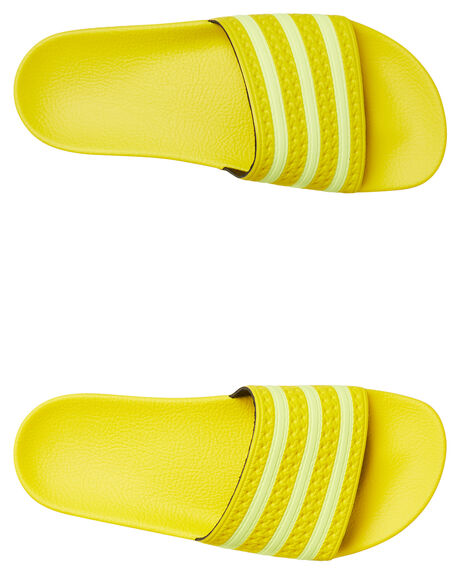 YELLOW WOMENS FOOTWEAR ADIDAS SLIDES - EE7449YLLW