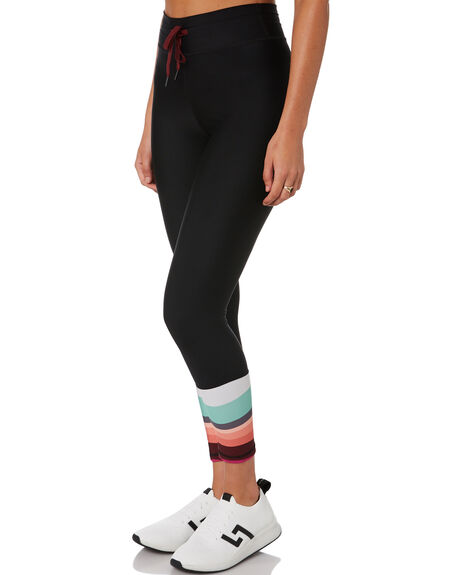 BLACK WOMENS CLOTHING THE UPSIDE ACTIVEWEAR - USW121103BLK