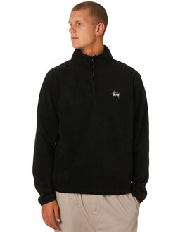 BLACK MENS CLOTHING STUSSY JUMPERS - ST096201BLACK