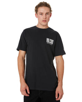 BLACK MENS CLOTHING VOLCOM TEES - A4341972BLK