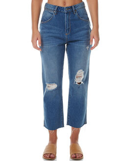 MIDLAND DESTRUCT WOMENS CLOTHING WRANGLER JEANS - W-950664-BX5MID