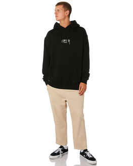 BLACK MENS CLOTHING STUSSY JUMPERS - ST091200BLK