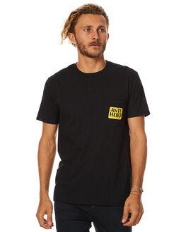 BLACK MENS CLOTHING ANTI HERO TEES - 51020287BLK