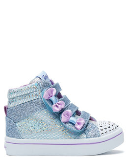 LIGHT BLUE KIDS GIRLS SKECHERS FOOTWEAR - 20240NLBSL