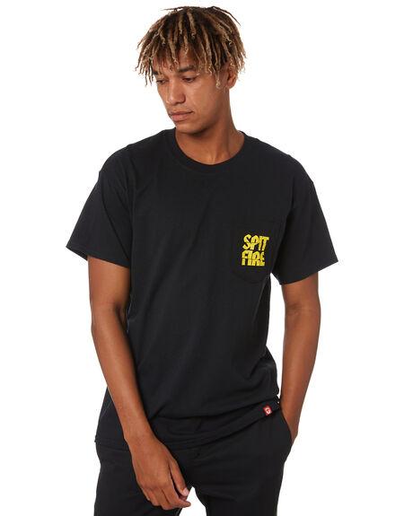 BLACK MENS CLOTHING SPITFIRE TEES - 51010685BLK