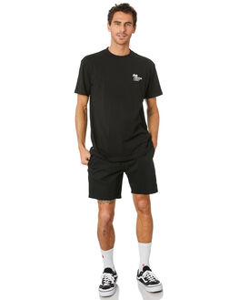 BLACK MENS CLOTHING HUFFER TEES - MTE94J4027112BLK