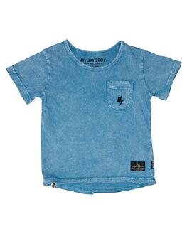 ACID BLUE KIDS TODDLER BOYS MUNSTER KIDS TEES - MK181TE07ABLU