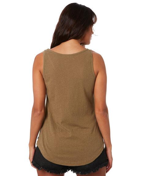 CAPULET OLIVE WOMENS CLOTHING RUSTY SINGLETS - TSL0582-CAO