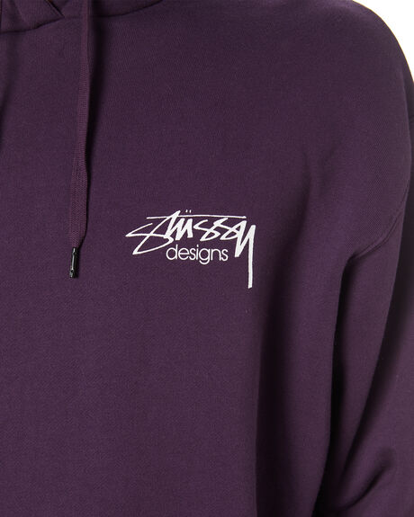 AUBERGINE MENS CLOTHING STUSSY JUMPERS - ST007202ABRGN