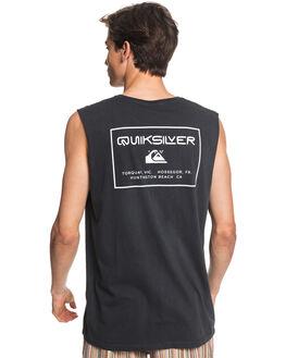 BLACK MENS CLOTHING QUIKSILVER SINGLETS - EQYZT05822-KVJ0