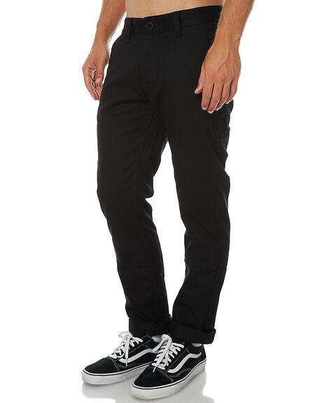 BLACK MENS CLOTHING BRIXTON PANTS - 04044BLK