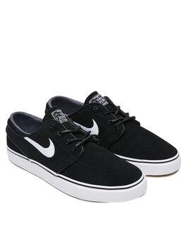 BLACK WHITE MENS FOOTWEAR NIKE SKATE SHOES - 833603-012
