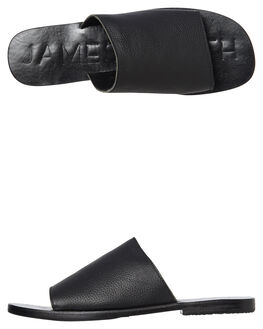 BLACK  BLACK WOMENS FOOTWEAR JAMES SMITH SLIDES - 6115202BKBK