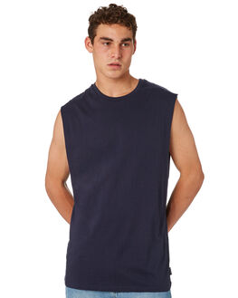 NAVY MENS CLOTHING BILLABONG SINGLETS - 9572509NVY