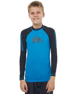 BRILLIANT BLUE BLACK SURF RASHVESTS QUIKSILVER BOYS - EQBWR03040XBBK