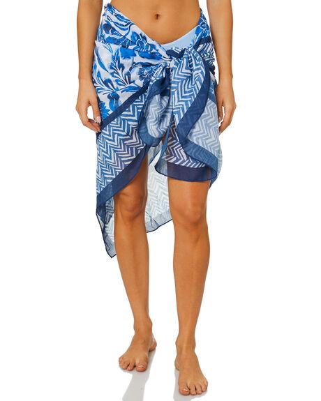 MARINA BLUE WOMENS SWIMWEAR SEAFOLLY OVERSWIM - 54483-SGMBLU