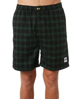 GREEN BLACK MENS CLOTHING STUSSY SHORTS - ST095609GRNBLK