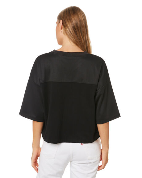 BLACK WOMENS CLOTHING HUFFER TEES - WTE01S8401BLK
