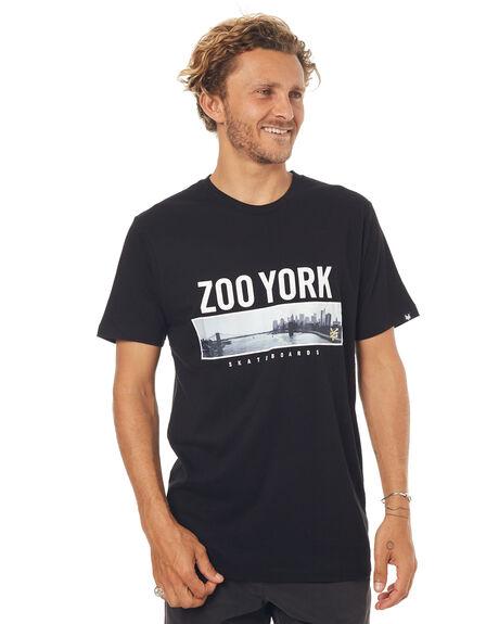 BLACK MENS CLOTHING ZOO YORK TEES - ZY-MTD7110BLK