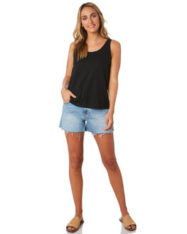 BLACK WOMENS CLOTHING SWELL SINGLETS - S8201271BLK