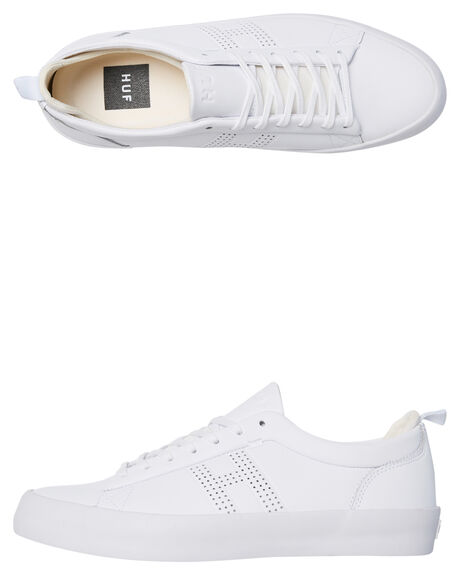 WHITE MENS FOOTWEAR HUF SKATE SHOES - VC00018WHI