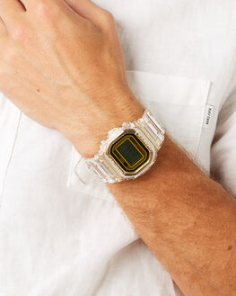 GOLD CLEAR BAND MENS ACCESSORIES G SHOCK WATCHES - DW5035E-7DGLDCL
