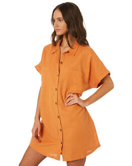 TUSCAN ORANGE WOMENS CLOTHING SWELL DRESSES - S8201455TSORG