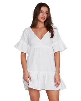 WHITE WOMENS CLOTHING BILLABONG DRESSES - BB-6592540-WHT