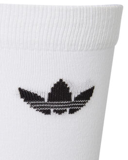 WHITE BLACK MENS CLOTHING ADIDAS SOCKS + UNDERWEAR - DV1728WHTBK